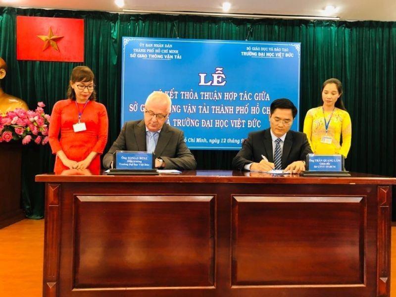 Sở GTVT TP.HCM hợp tác với Đại học Việt Đức - ảnh 1