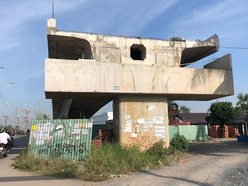Cầu Tăng Long có nguy cơ chậm tiến độ - ảnh 1