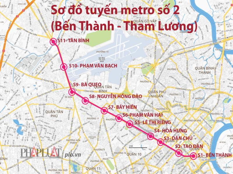 Chi gần 1.500 tỉ cho hạ tầng xung quanh tuyến metro số 2 - ảnh 1