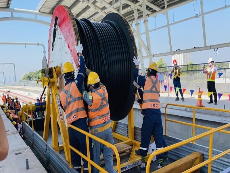 Sắp đóng điện trạm biến áp Bình Thái cho tuyến metro số 1 - ảnh 1