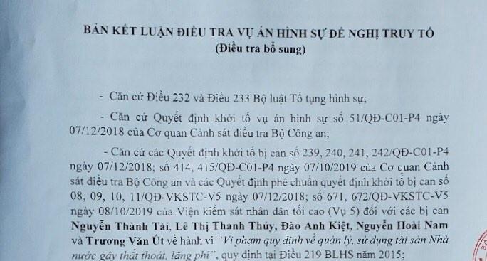 Bộ Công an tiếp tục đề nghị truy tố ông Nguyễn Thành Tài - ảnh 2