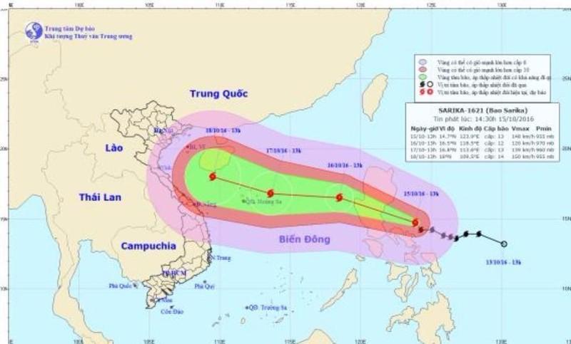 Bão số 7 sẽ đổ bộ vào nước ta và có vùng ảnh hưởng rộng lớn từ Nha Trang đến Quảng Ninh. NCHMF