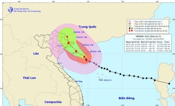 Đêm nay, bão số 7 đổ bộ vào Quảng Ninh-Lạng Sơn - ảnh 1