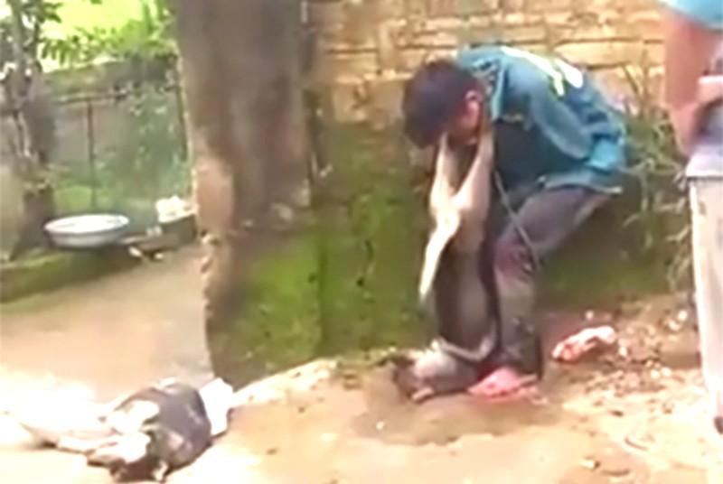 Dân treo xác chó vào cổ kẻ trộm! - ảnh 1