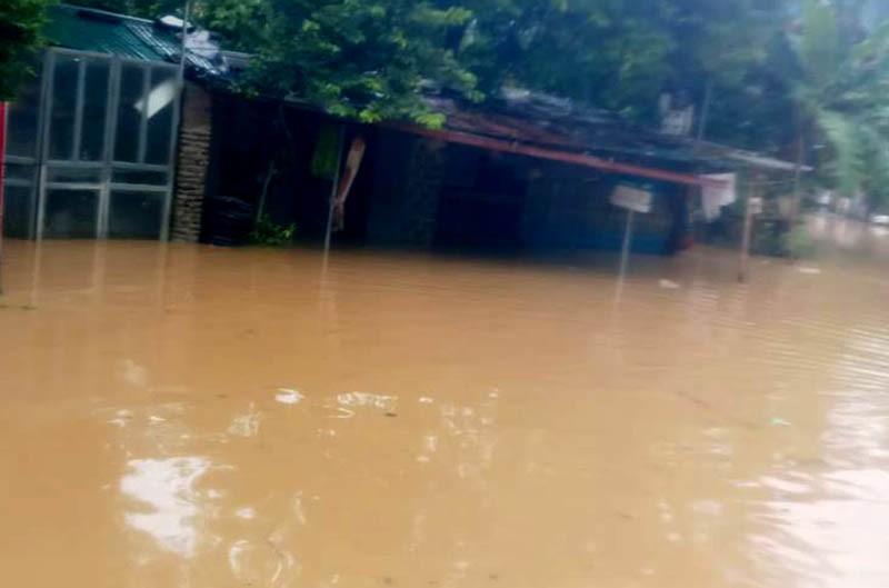 Nhiều nơi ở Thanh Hóa bị chia cắt, cô lập vì mưa lũ - ảnh 4