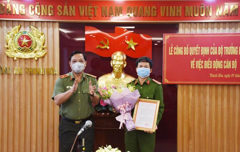 1 lãnh đạo Công an Nam Định làm phó giám đốc Công an Thanh Hóa - ảnh 1
