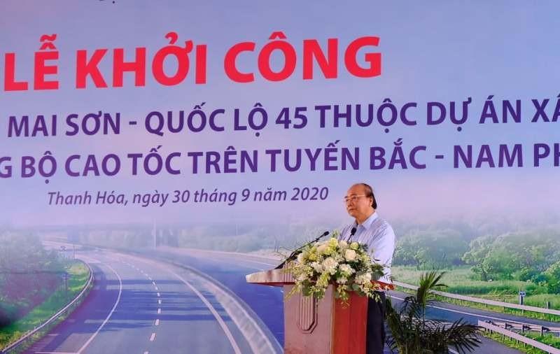 Thủ tướng dự lễ khởi công dự án thuộc cao tốc Bắc-Nam - ảnh 1