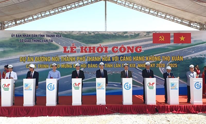 Khởi công tuyến đường hơn 3.500 tỉ đi Cảng hàng không Thọ Xuân - ảnh 1