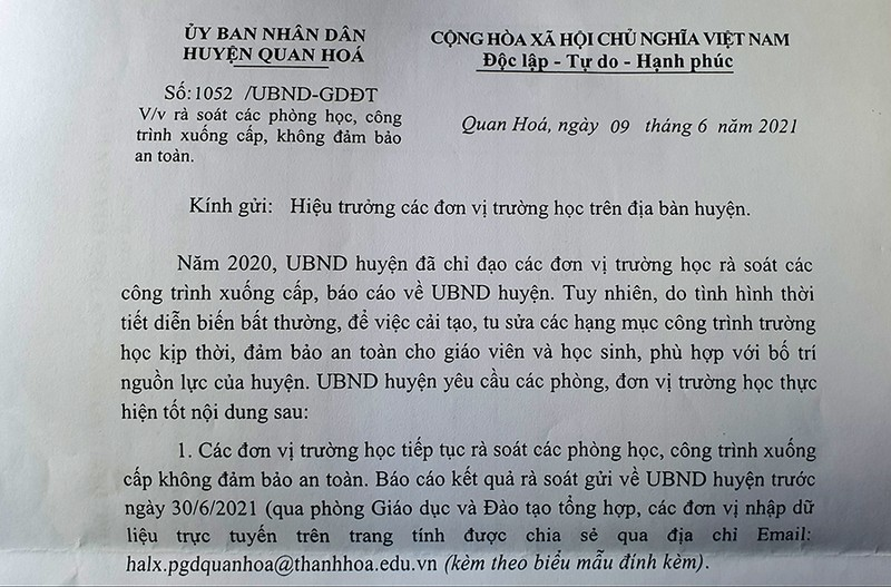 Vụ trường xuống cấp ở Thanh Hóa: Khắc phục ngay trước năm học mới - ảnh 4