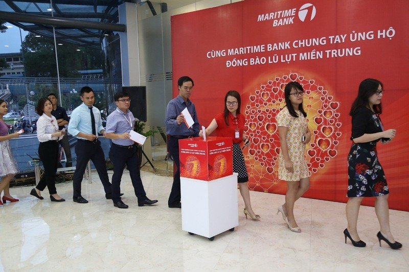 Cùng Maritime Bank hành động vì đồng bào miền Trung - ảnh 1