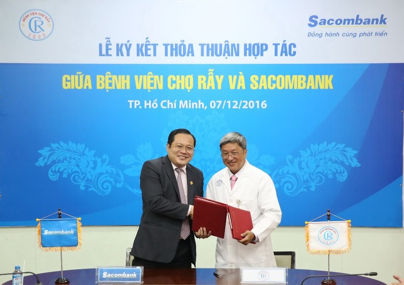 Sacombank hợp tác toàn diện với Bệnh viện Chợ Rẫy  - ảnh 1