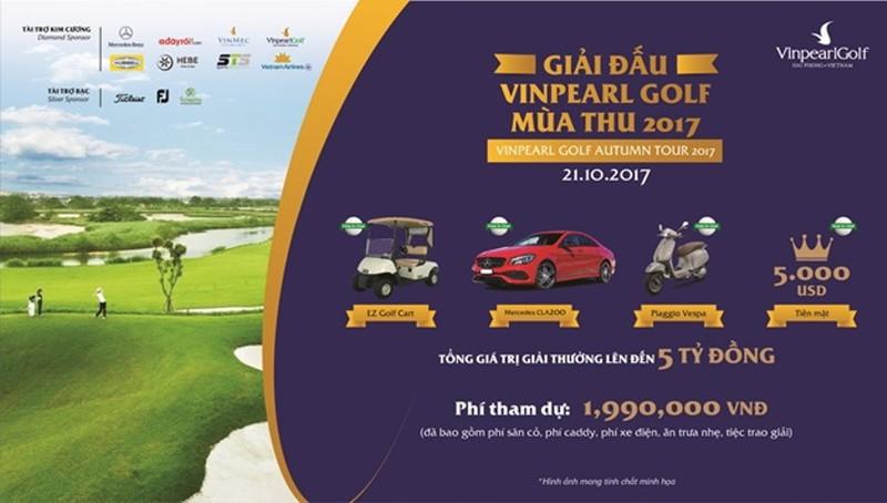 Vinpearl Golf Autumn Tour: tổng giải thưởng hơn 5 tỷ  - ảnh 1