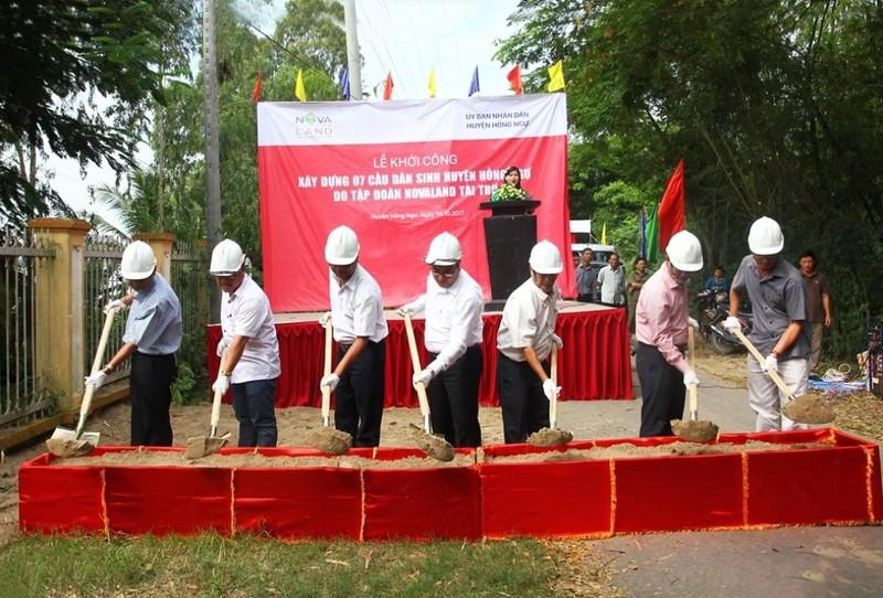 Thêm 7 cầu dân sinh tại huyện Hồng Ngự, Đồng Tháp - ảnh 1