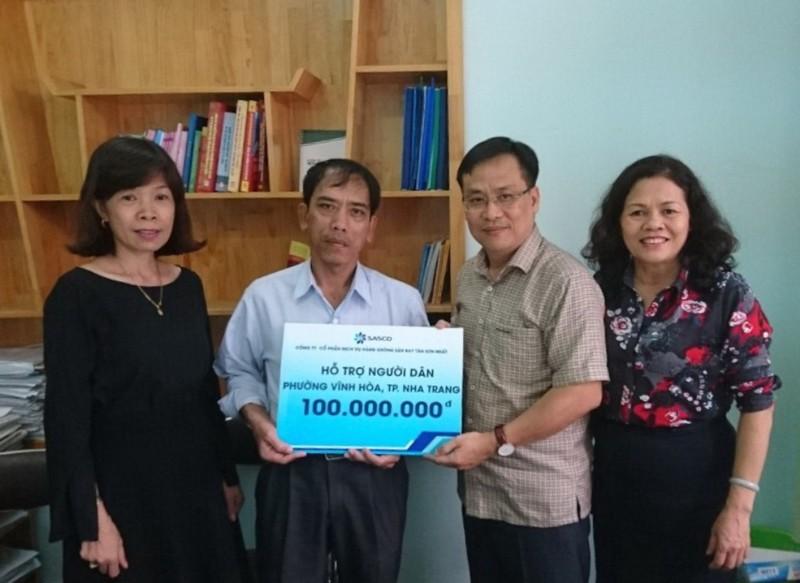 SASCO trao tặng người dân vùng bão Nha Trang 100 triệu  - ảnh 1