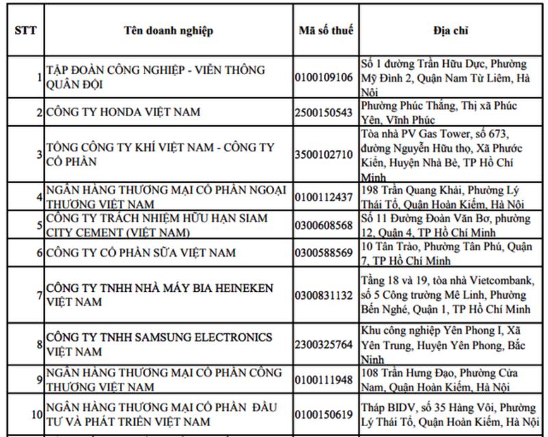 Vinamilk: Tốp 10 công ty nộp thuế TNDN nhiều nhất - ảnh 1