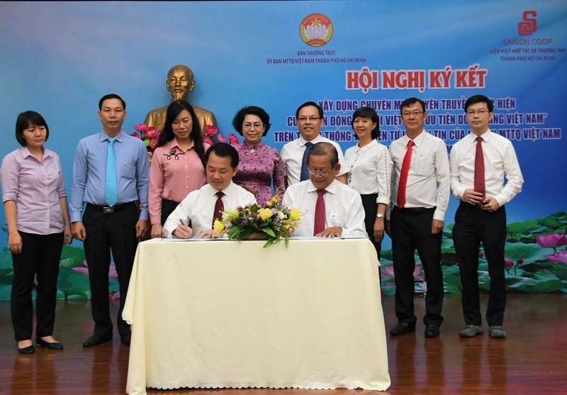 Saigon Co.op ký kết phối hợp cùng Mặt trận Tổ quốc VN - ảnh 1