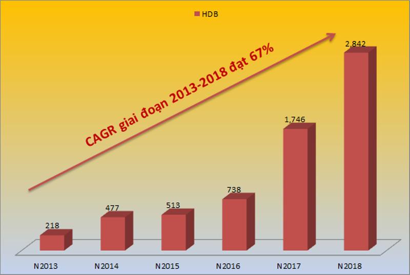 HDBank: Top 5 ngân hàng có tốc độ tăng trưởng nhanh nhất - ảnh 2
