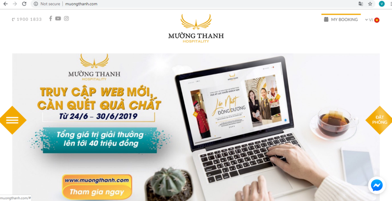 Mường Thanh Hospitality ra mắt website mới, diện mạo mới       - ảnh 1