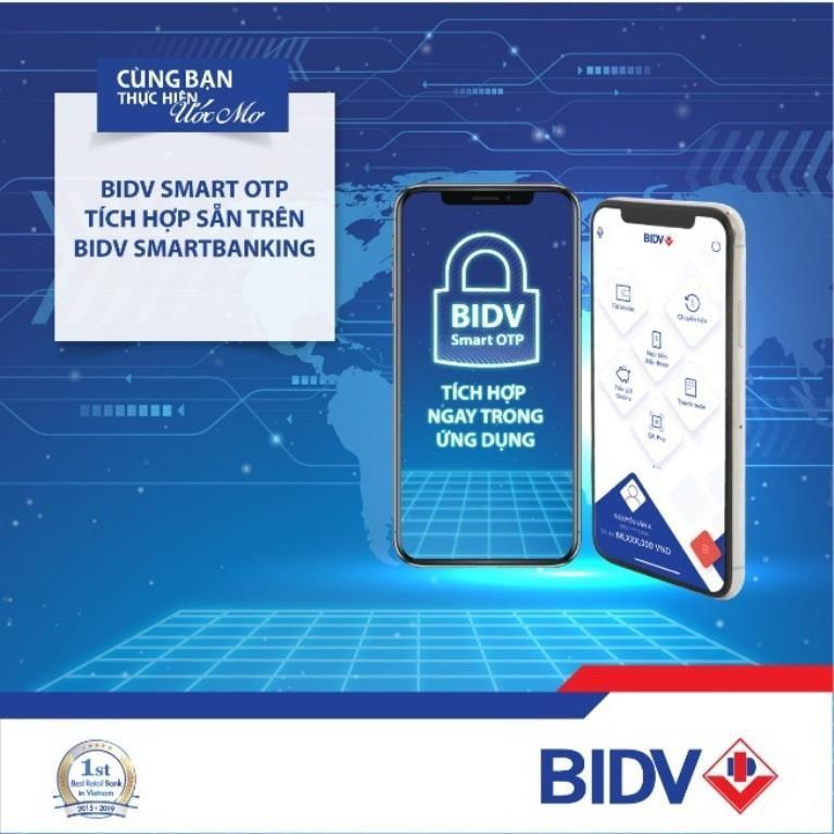 Tích hợp Smart OTP ngay trên ứng dụng BIDV SmartBanking        - ảnh 1