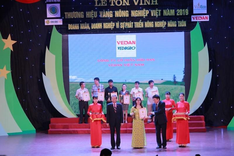 Vedan đạt giải thưởng 'Thương hiệu vàng nông nghiệp Việt Nam' - ảnh 1