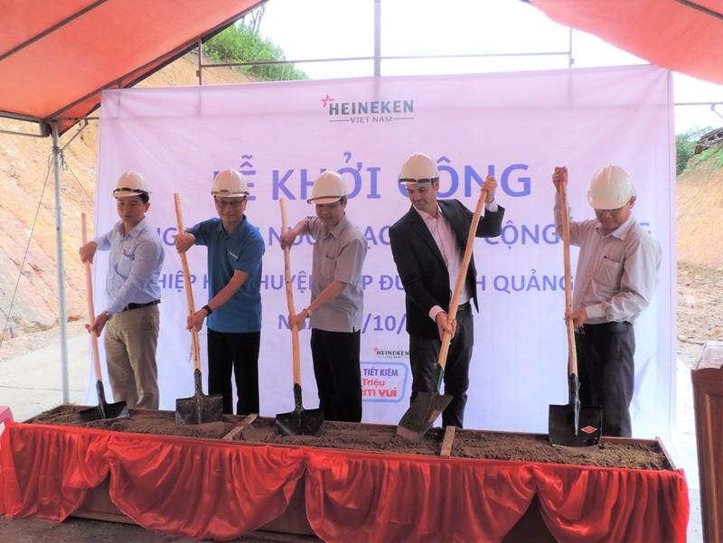 Heineken Việt Nam tài trợ công trình nước sạch tại Quảng Nam - ảnh 1