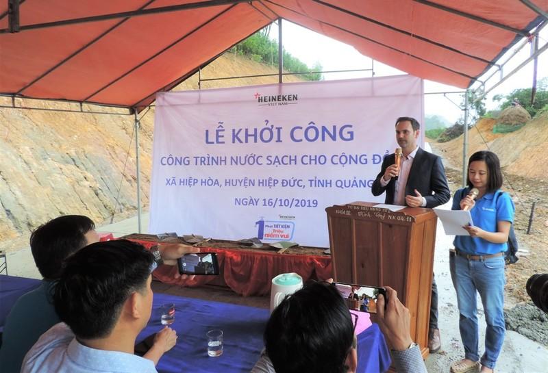 Heineken Việt Nam tài trợ công trình nước sạch tại Quảng Nam - ảnh 2