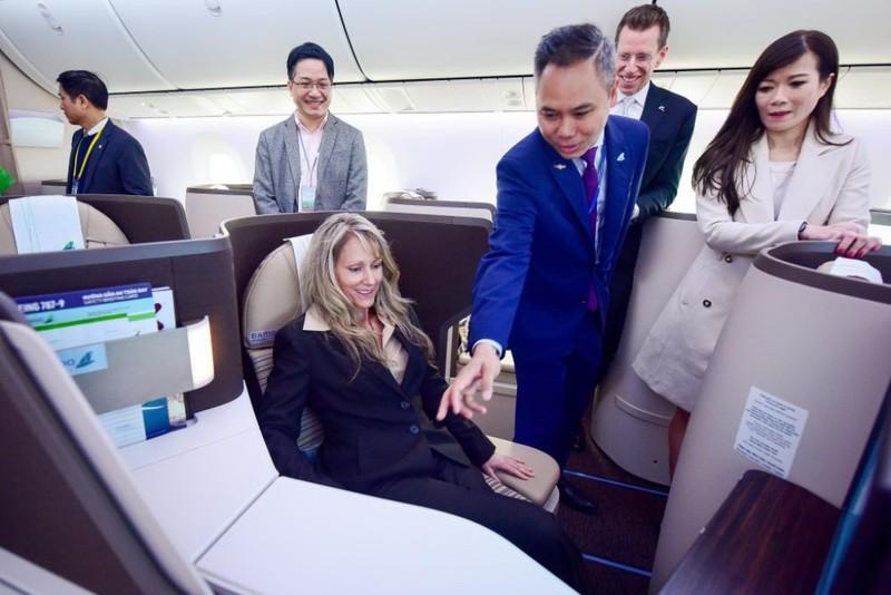 Ngắm nội thất Boeing 787-9 của Bamboo Airways - ảnh 4