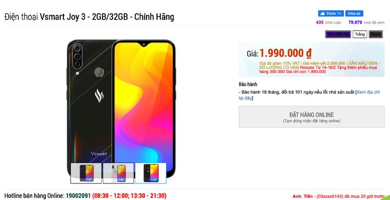 Vì sao thị trường smartphone Việt 'náo loạn' vì Vsmart Joy 3?  - ảnh 2