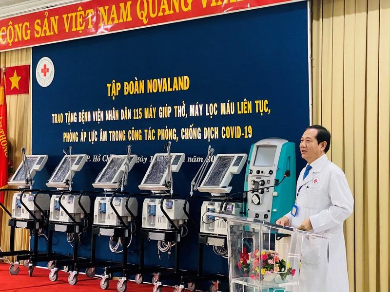 Novaland tặng trang thiết bị y tế cho BV Nhân dân 115 - ảnh 1