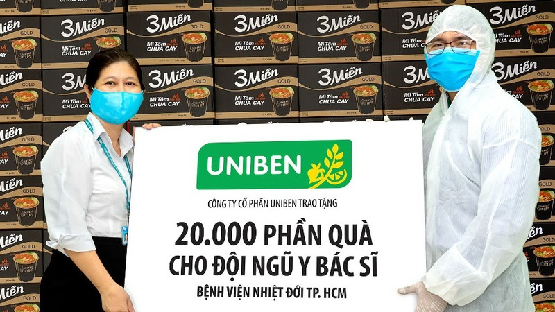 Uniben tặng 150.000 bữa ăn dinh dưỡng tới các y bác sĩ - ảnh 2
