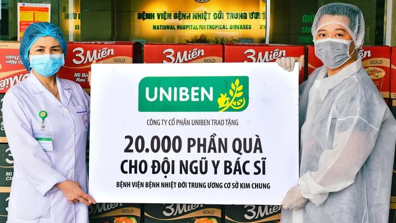 Uniben tặng 150.000 bữa ăn dinh dưỡng tới các y bác sĩ - ảnh 6