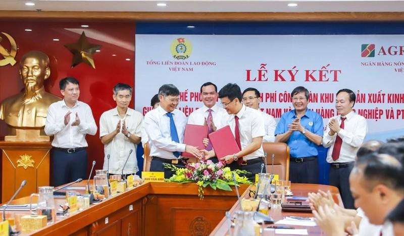 Agribank và Tổng Liên đoàn Lao động ký quy chế hợp tác - ảnh 1
