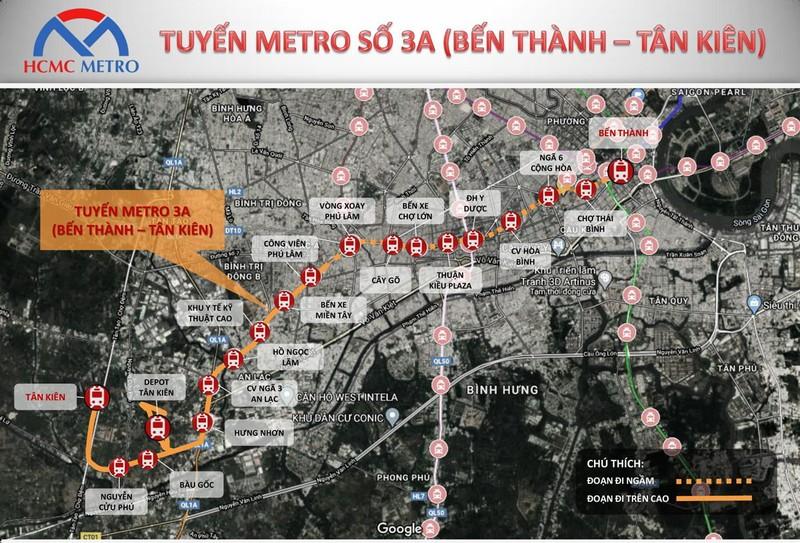 Tuyến Metro 3A thay đổi trung tâm hành chính Tây Sài Gòn - ảnh 1