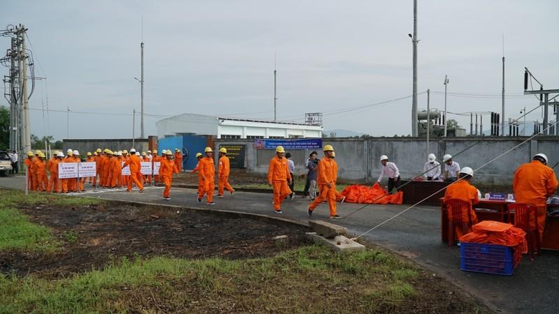 EVNSPC diễn tập phòng chống thiên tai và tìm kiếm cứu nạn - ảnh 1