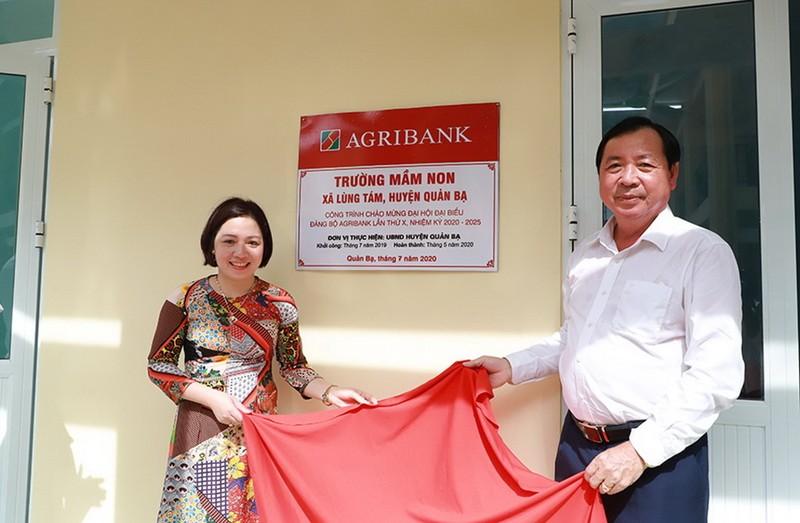 Các công trình chào mừng Đại hội Đảng bộ Agribank lần thứ X - ảnh 1
