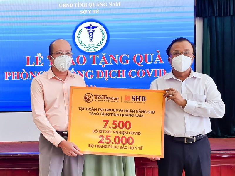 SHB và T&T Group ủng hộ kit xét nghiệm cho Quảng Nam   - ảnh 1