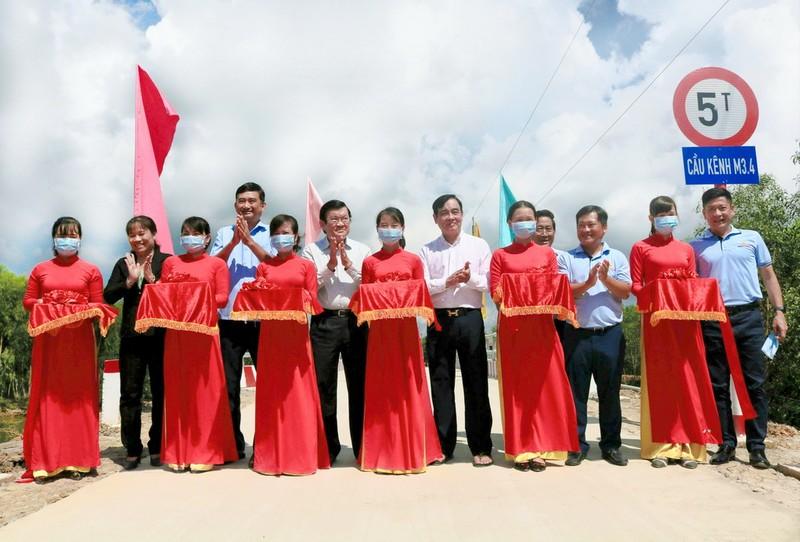 Vietbank tài trợ xây 6 cầu giao thông nông thôn tại Long An    - ảnh 1