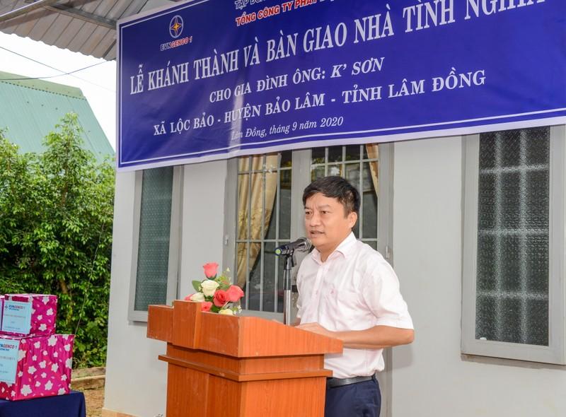 EVNGENCO1 trao tặng nhà tình nghĩa tại Lâm Đồng             - ảnh 1