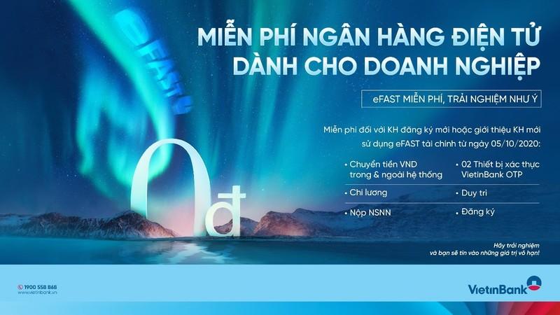 VietinBank miễn phí giao dịch ngân hàng điện tử cho DN - ảnh 1