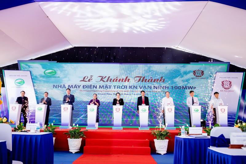 Khánh thành dự án nhà máy điện mặt trời KN Vạn Ninh 100 MWp - ảnh 2