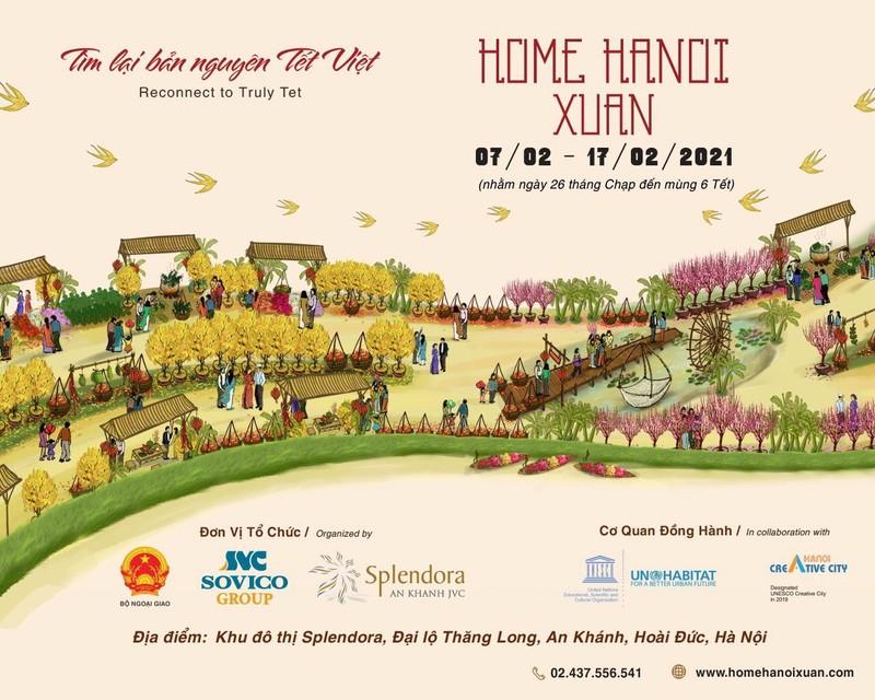 Đường hoa Home Hanoi Xuan 2021 sắp xuất hiện tại Hà Nội    - ảnh 1