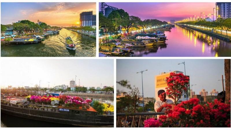 TP.HCM: Rực rỡ Chợ Hoa Xuân 'Trên bến dưới thuyền' - ảnh 3