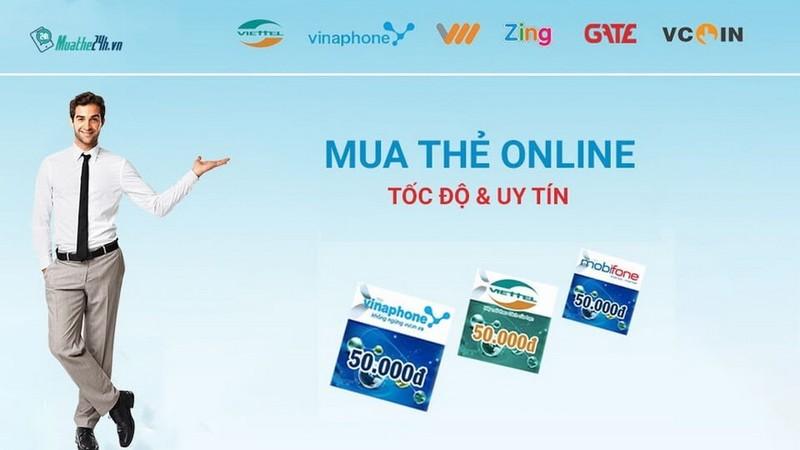 Mua thẻ điện thoại, thẻ game nhanh chóng tại muathe24h.vn      - ảnh 1