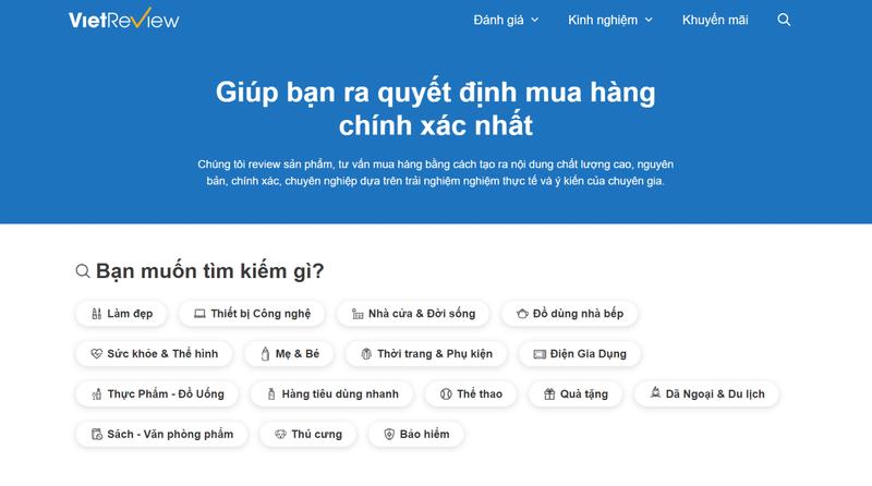 """Vietreview.vn - Website đánh giá bằng """"nội dung"""" thật      - ảnh 1"""