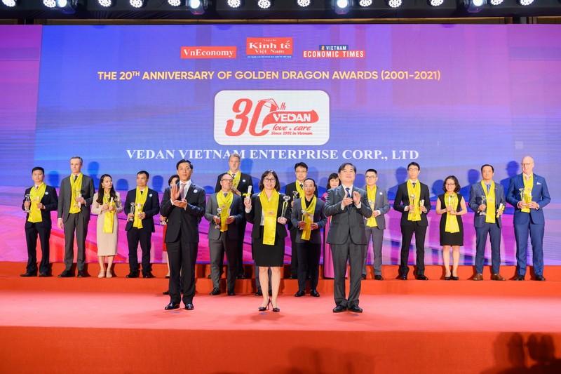 Vedan nhận giải Rồng Vàng 2020 - nỗ lực 30 năm phát triển - ảnh 1