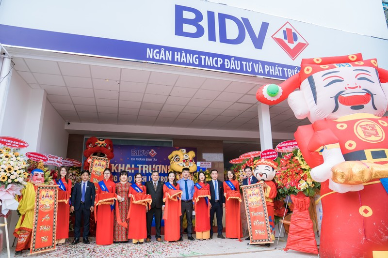BIDV: Khai trương Phòng giao dịch Lê Trọng Tấn - ảnh 1