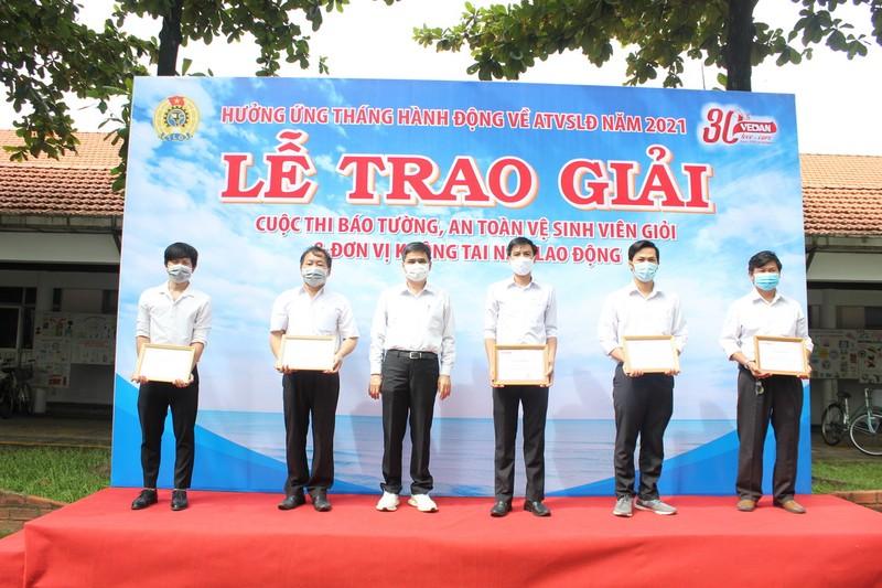Vedan trao giải các hoạt động Tháng An toàn vệ sinh lao động - ảnh 1