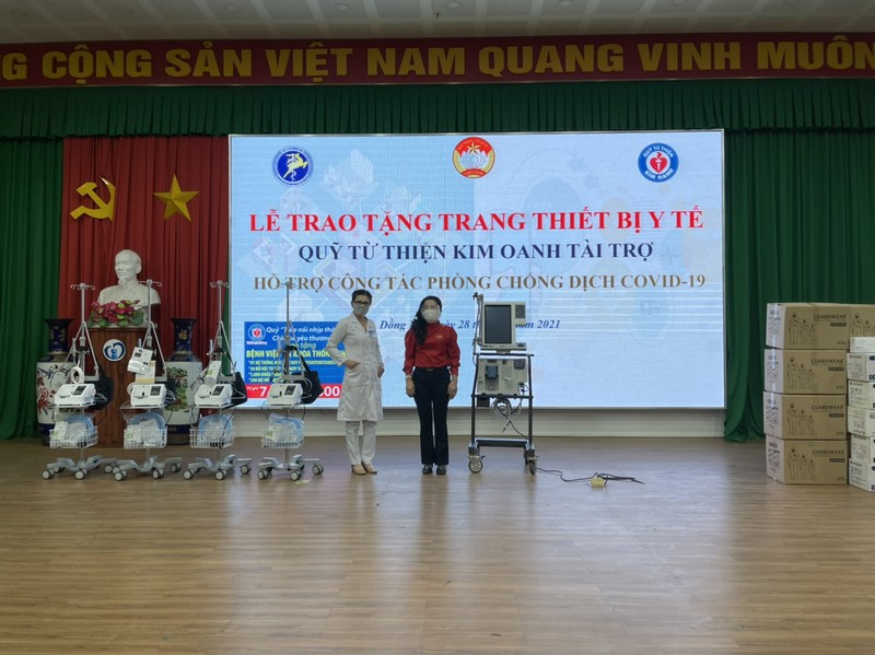 Quỹ từ thiện Kim Oanh tặng tiếp 5 máy thở và nhiều vật tư y tế thiết yếu - ảnh 2