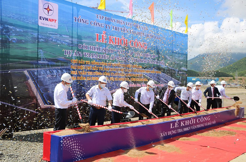 EVNNPT triển khai thi công trạm biến áp 500kV Vân Phong - ảnh 1