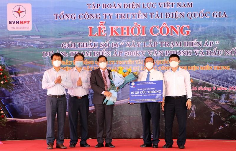 EVNNPT triển khai thi công trạm biến áp 500kV Vân Phong - ảnh 2